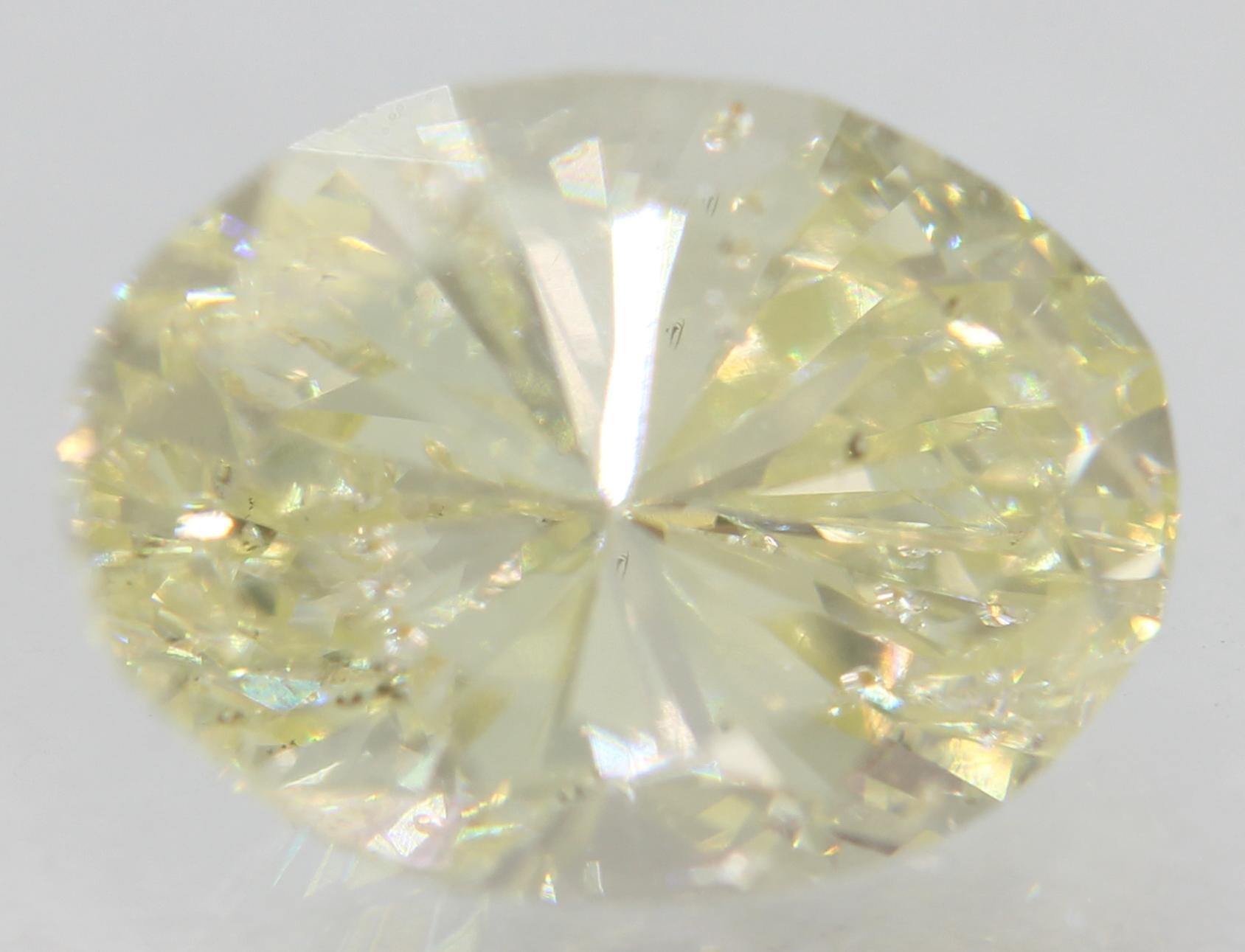 Certified 2.45 Carat J VS2 Oval Enhanced Natural Loose Diamond 9.83x7.24mm
