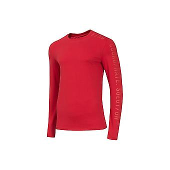 4F TSML070 H4Z19TSML070CZERWONY universal all year men t-shirt