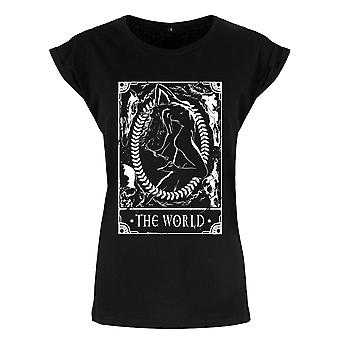 Deadly Tarot Womens/Ladies The World T Shirt