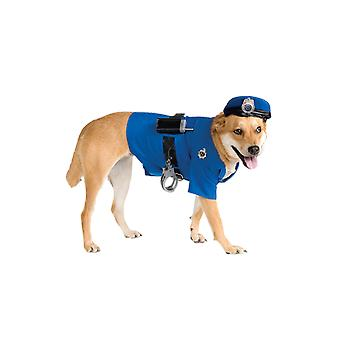 Dog Costume Police Cop Novelty Funny Pet Fancy Dress