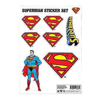 Superman Sticker Sheet Classic Logo new Official DC Comics A4 set