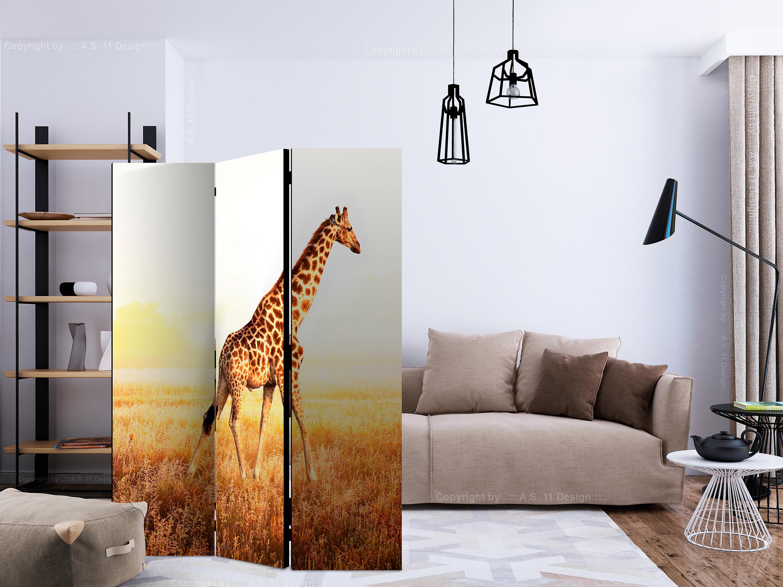 Paravent 3 volets - giraffe - walk [Room Dividers]