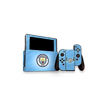 Offizielles Manchester City FC Nintendo Switch Console und Controllers Skin Set