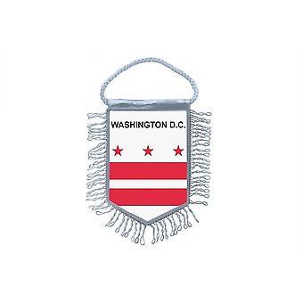 Sinalizar mini bandeira país carro decoração EUA EUA Washington DC