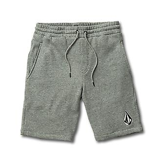 Volcom Deadly Stones Fleece Track Shorts in Storm