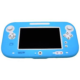 Protective silicone cover for wii u gamepad soft bumper cover- light blue