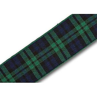 Union Jack Wear Green/Blue Tartan Ribbon
