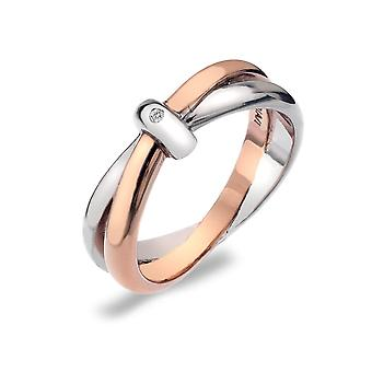 Hot Diamonds 18ct Rose Gold Vermeil Ring DR112