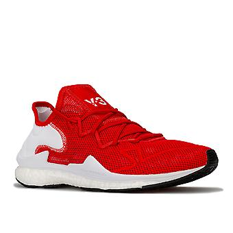 Mens Y-3 Adizero Runner Trainers In Red White- Lace Fastening- Breathable Mesh