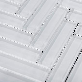 Mozaïek D-teken Fishbone White Crystal