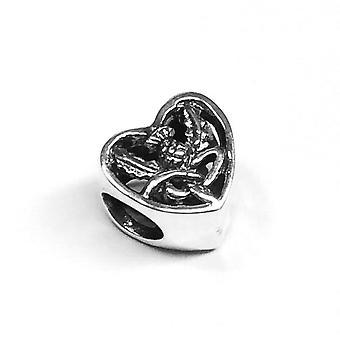Outlander Inspired Scottish Highland Knot Keepsake Heart Bracelet Bead Charm