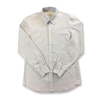 Luciano Barbera shirt in white/brown/blue check