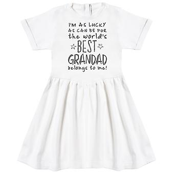 I'm As Lucky As Can Be Best Grandad belongs to me! Baby Dress