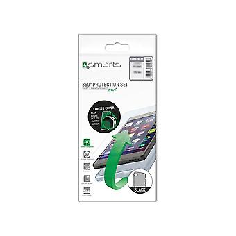 Hull For Samsung Galaxy J7 (2017) Black Transparent Soft - Tempered Glass
