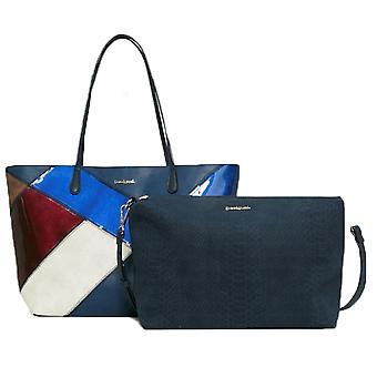 Desigual kvinder ' s reversibel patchwork Capri Titan taske