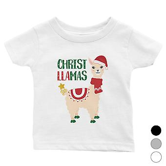 Christ Llamas Cute Holiday Baby Shirt X-mas Present