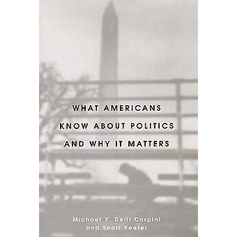 What Americans Know About Politics and Why it Matters by Michael X.De