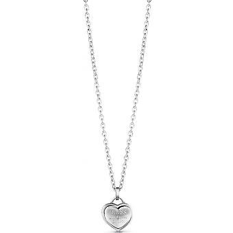Gissa smycken UBN28011-stål rhodi Pampille hjärta grav grav