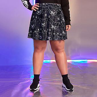 Plus animal print velvet skirt