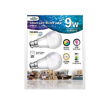 Mv Smart Bulb 9W B22 Twin Pack