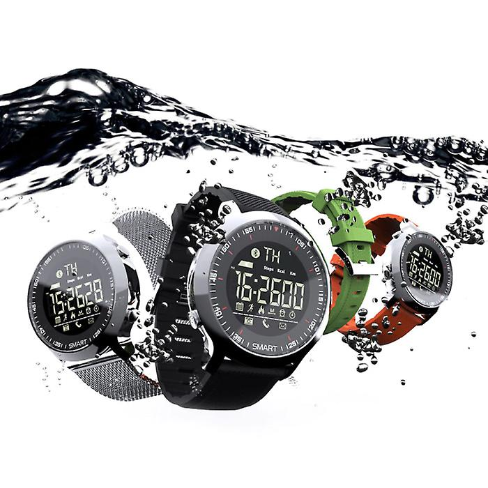 Lokmat Waterproof Sport Smartwatch Fitness Activity Tracker Smartphone Watch iOS Android iPhone Samsung Huawei Silver
