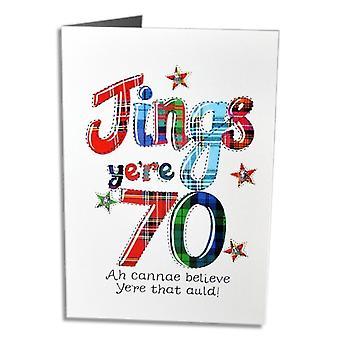 Broderet originaler jings yere 70 skotsk fødselsdagskort