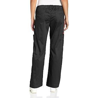 Dickies Women's GenFlex Cargo Scrubs Pant, Black, Large, Black, Size Large