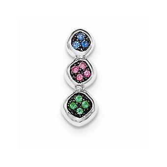 925 plata de ley con piedras sintéticas cadena diapositiva joyería regalos para las mujeres