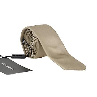 Dolce & Gabbana Beige Silk Solid Slim Tie