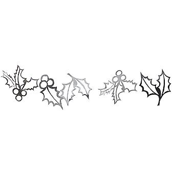 Silver Holly Garland - Christmas Decoration x 2m