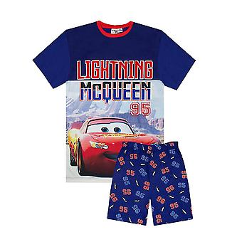 Disney Pixar Lightning McQueen Boys Pyjama 2 Piece Short Set 2 - 8 Years