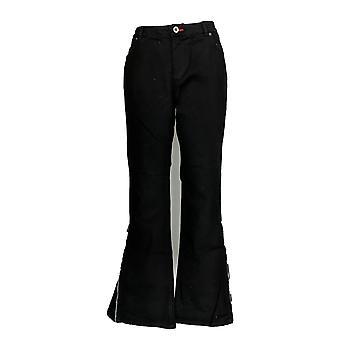 Peace Love World Women' Boot Cut Denim Jeans w/ Side Zip  Black A296573