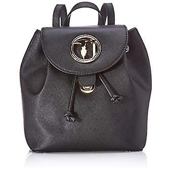 Trussardi Jeans Sophie Backpack SM Ecoleather Black Women's Backpack Bag (Black) 22x26x15 cm (W x H x L)