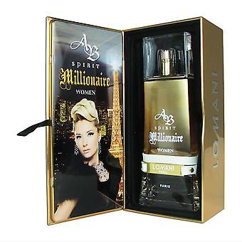 Ab spirit millionaire for women by lomani 3.3 oz eau de parfum spray fe92113