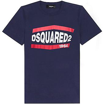 Dsquared2 DSquared2 الرسم شعار طباعة تي شيرت