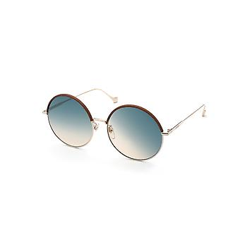 Loewe Otras LW40008U 33W Brown/Turquoise-Sand Gradient Sunglasses