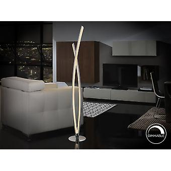Schuller Linur - Floor lamp made of aluminum and metal, chrome finish. LED light inside and opal acrylic diffusers. Dimmable. Plug type G (UK). 26W LED. 2.080 lm. 4.000 K. - 736210UK