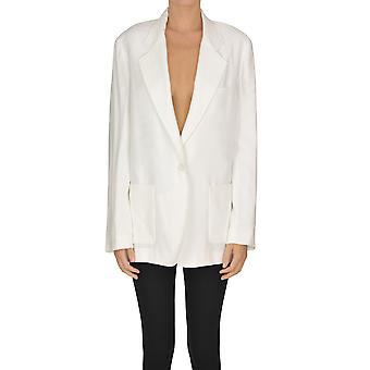 I.c.f. Ezgl456006 Women's White Polyester Blazer