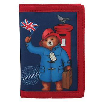 Paddington Bear London Tri Fold Children's Wallet Blue
