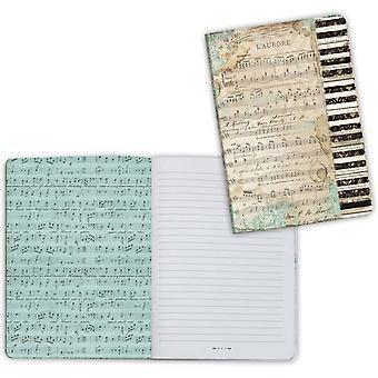 Stamperia Notebook A6 Music Piano