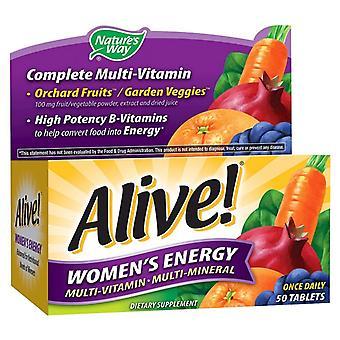 Via della natura viva! energia multivitamin, compresse donne, ea 50