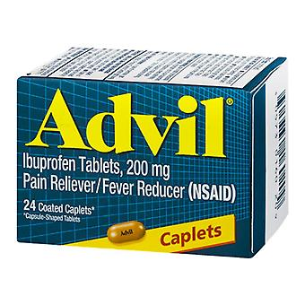 Advil ibuprofen pain reliever/fever reducer, 200 mg, tablets, 24 ea
