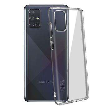 Flexible Silicone Gel Case for Samsung Galaxy A71 Thin Resistant- Imak, Clear