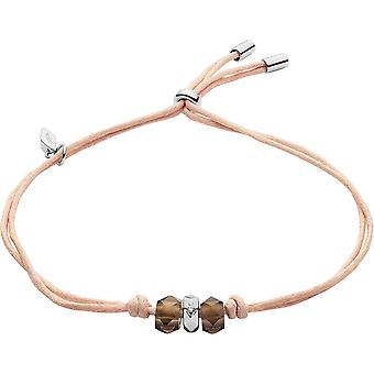 Fossil bracelet JFS00469040 - STERLING SILVER Rose Marron Quartz Crystal Transparent 22 cm Women