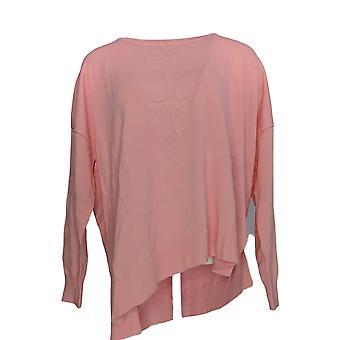 Attitudes by Renee Women's Sweater Asymmetric Knit Pink A375598 PTC