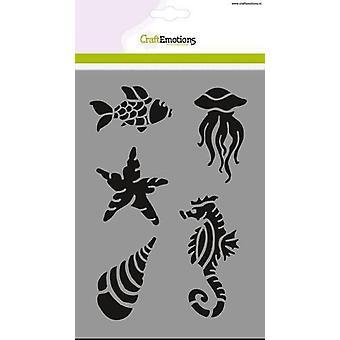 كرافتانسس قناع الاستنسل - الحيوانات البحرية A5