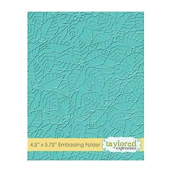 Taylored Expressions Peaceful Poinsettia Embossing Folder (TEEF57)