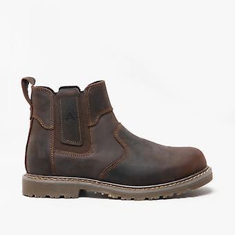 Amblers Abingdon Mens الجلود تاجر الأحذية براون