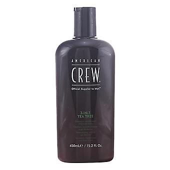2-in-1 Shampoo und Conditioner Tea Tree American Crew (450 ml)