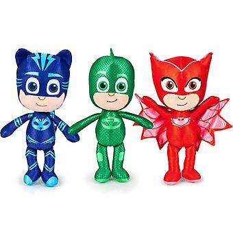 3-Pack PJ Masks Pajama Heroes Cat Boy Owl Lis Gecko Plush Stuffed Toy 35cm